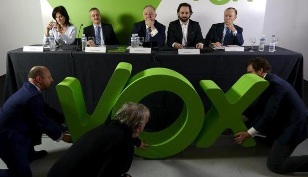 Rolda de prensa de presentación de VOX, hai unhas semanas