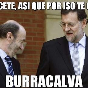 Rajoy e Rubalcaba sacan as pirolas no Congreso para ver quen a ten máisgrande