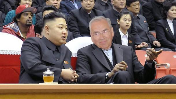 Kim Jong-un e Alfonso Guerra nun dos actos da campaña.