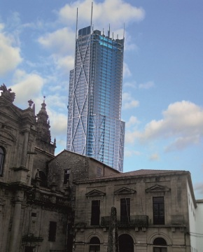 A diócese planea substituír unha torre da Catedral de Santiago por un hotel deluxo