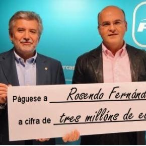 O PP de Ourense pagará tres millóns de euros aRosendo