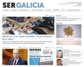 Sermos Galiza publicará a súa portada en castelán o Día dasLetras