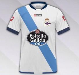 Segunda equipación do Deportivo da Coruña para a tempada 2014-2015