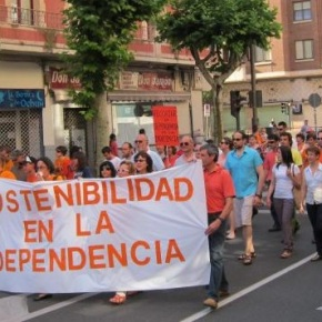 Manifestación pola dependencia deGalicia