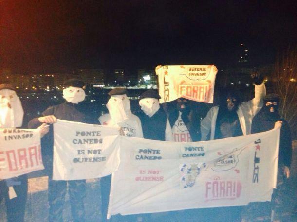 Militantes de GALPÓN piden a liberación do territorio ocupado.