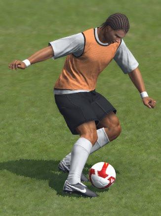 Castolo controla o balón en Abegondo