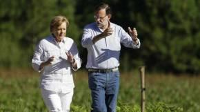 Rajoy e Merkel intercambian ideas peregrinas enCompostela