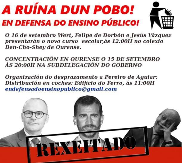 Cartaz dos grupos terroristas que plantexan atentar contra a súas maxestades
