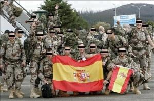 Membros da Brilat partindo cara Vigo.