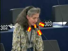 Cayo Lara obriga a Lidia Senra a falar español noEuroparlamento