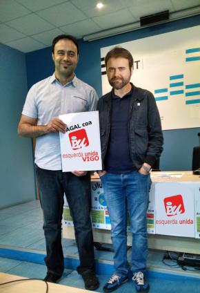 Esquerda Unida Vigo colaborará con AGAL para a campaña das municipais 2015 na cidadeolívica