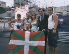 Ana Aznar no centro da imaxe, xunto a Alejandro Agag e outros membros do PNV.