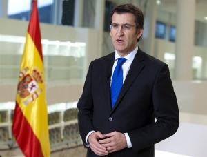 Fotograma do discurso de Nadal, deste ano, do presidente da Xunta, Alberto Núñez Feijóo.