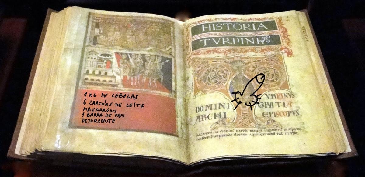 O ladrón pintou un carallo no Códice Calixtino