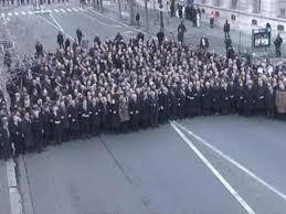 Líderes mundiais facendose o seu Selfie World Record.