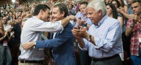 Pedro Sánchez crécese e tratará de expulsar a Felipe González eZapatero