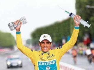Contador no último Tour gañado, co equipo Astana.