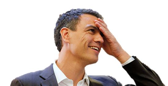 Pedro Sánchez dándose conta dunha das súas múltiples cagadas.