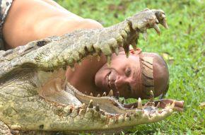 Alcalde merca un crocodilo para ter máis 'mordidas'