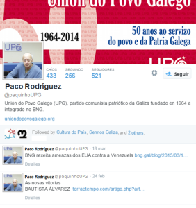 Conta twitter de Paco Rodríguez.