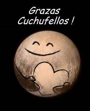 Plutón agradece a confianza dos Cuchufellos na foto daNASA