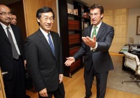 Alberto Nœ–ez Feij—o recibir‡ ao embaixador de Jap—n en Espa–a. No deu despacho de San Caetano