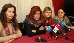 Rolda de prensa de Cerna coa súa futura deputada, Mónica Fernández.