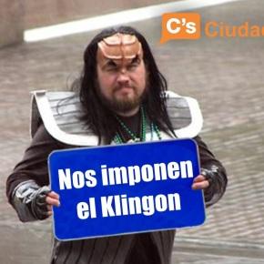 Ciudadanos pide que o Klingon deixe de ser idioma oficial de StarTrek