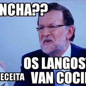 Rajoy e Pedro Sánchez ensaian o debate de 'cuñaos' denoiteboa