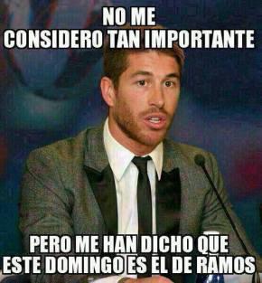 Sergio Ramos contento porque a Igrexa lle dedique undomingo