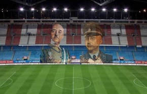 Na final da Copa do Rei proxectaranse as imaxes de Franco e Himmler