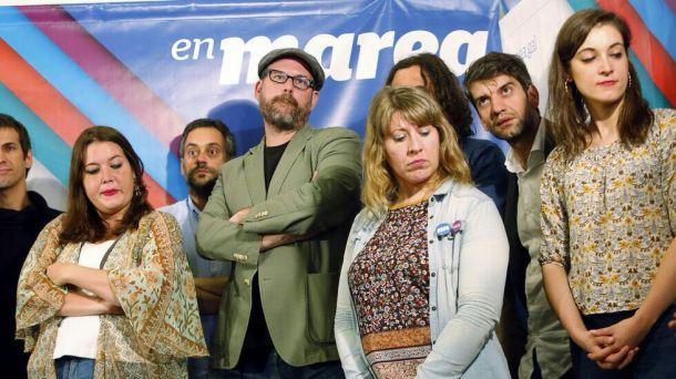 Representantes de En Marea, entristecidos polo resultado do Italia - España.