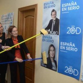 A campaña máis austera comeza cunha colada de cartaces conmocos