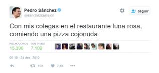 Épico chío de Pedro Sánchez.