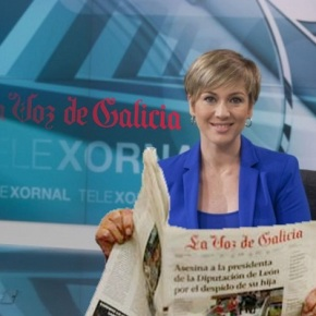 Os presentadores do Telexornal limitarase a ler La Voz de Galicia enalto