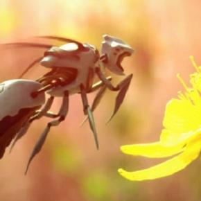 Inventan unha abella artifical capaz de polinizarveganos