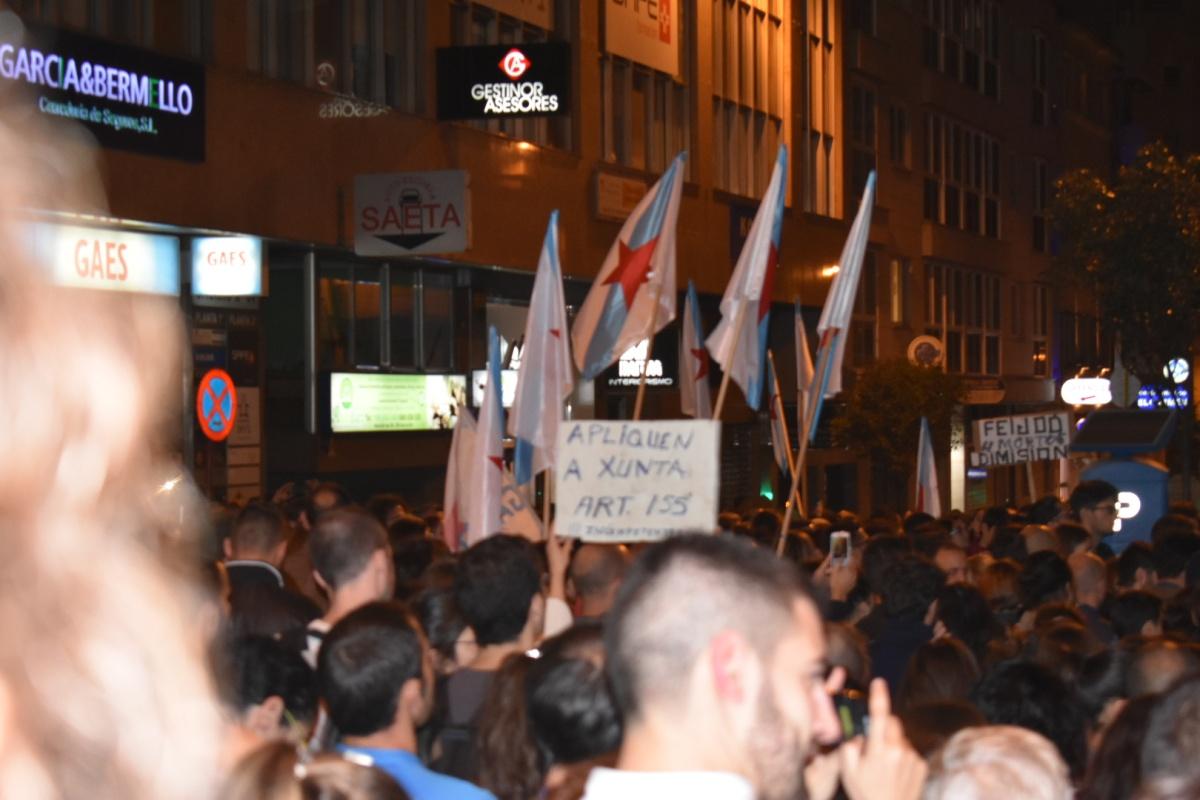Milleiras de galegas piden que o Goberno aplique o art. 155 en Galiza
