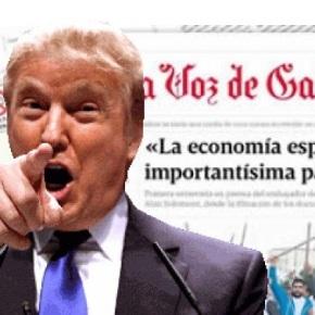 Donald Trump imporá un arancel á prensa galega por estar altamentesubvencionada