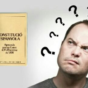 Cataláns confusos non saben se facer a ponte daConstitución