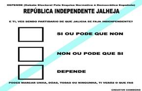 Presentada oficialmente a papeleta para o referendo jallejo autoindependente