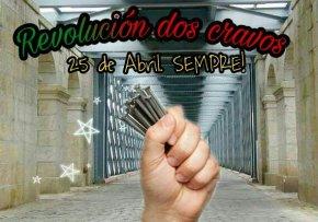 Trabúcanse e festexan o 25 de Abril conpuntas