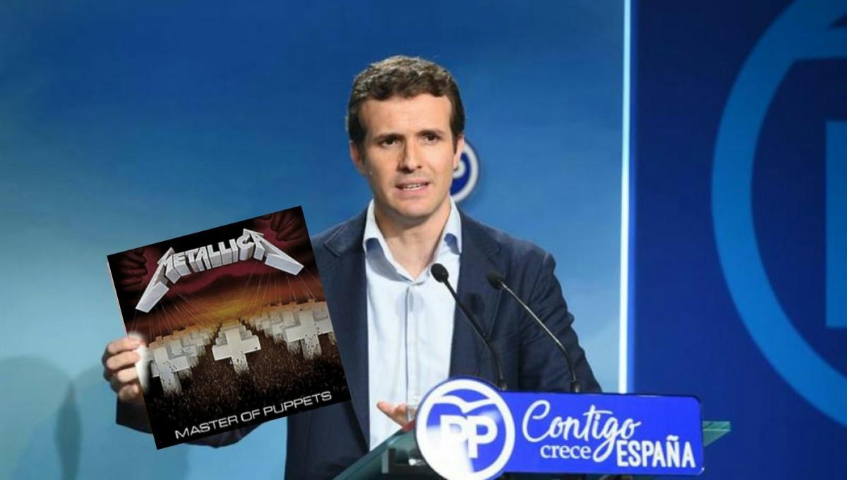 Pablo Casado amosa o seu máster