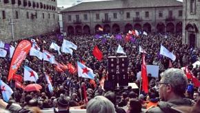 Miles de venezolanos se manifiestan en Santiago deCompostela