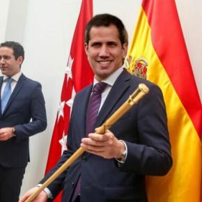 Guaidó aproveita a súa visita para autoproclamarse alcalde deMadrid